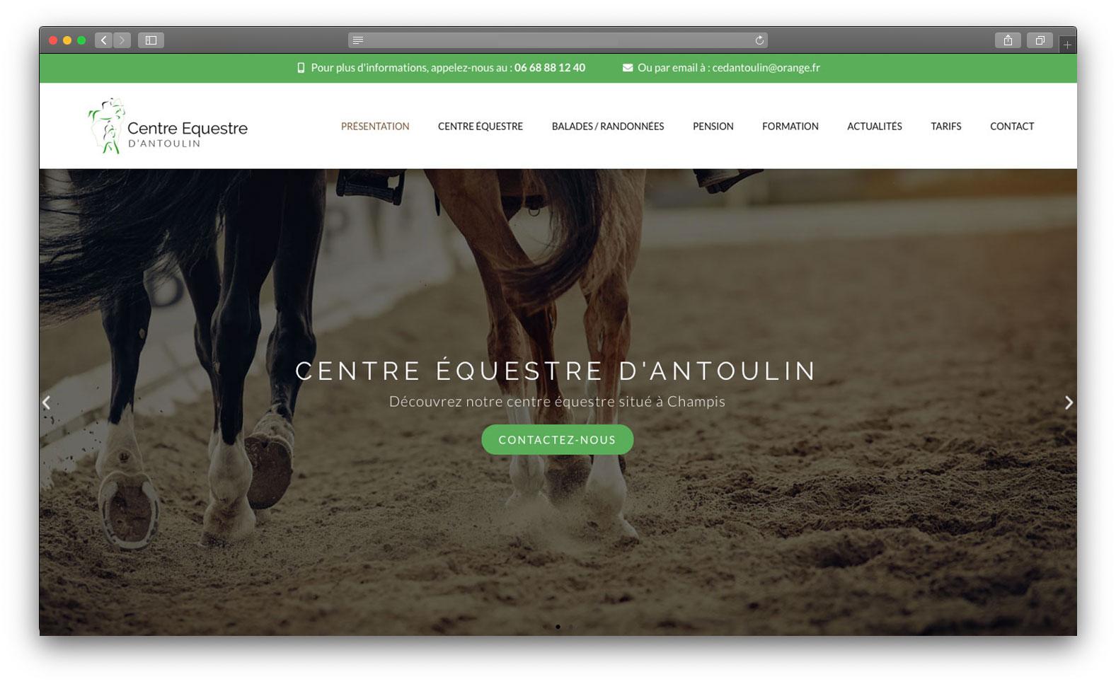 Site vitrine equestre