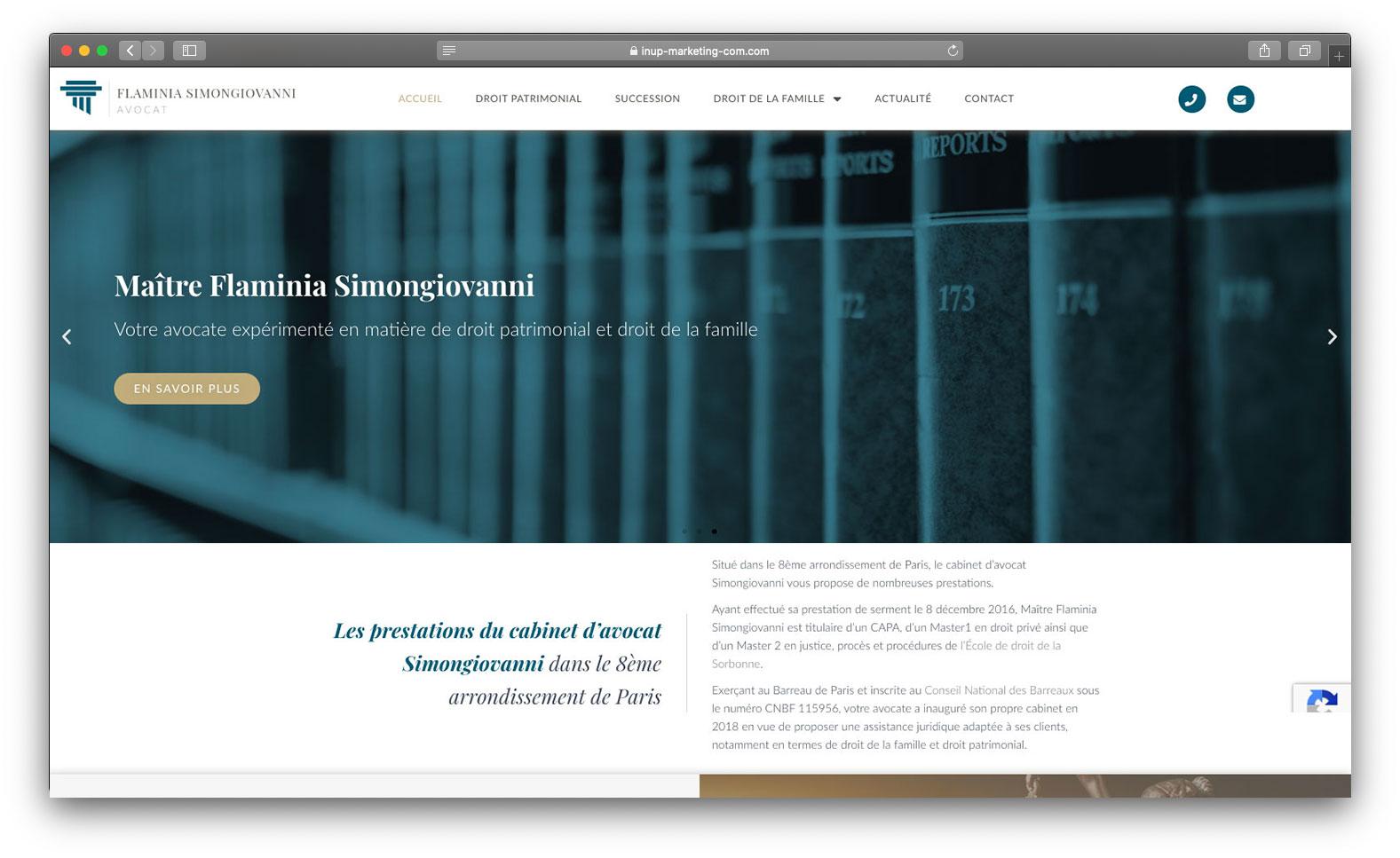 Site vitrine avocat