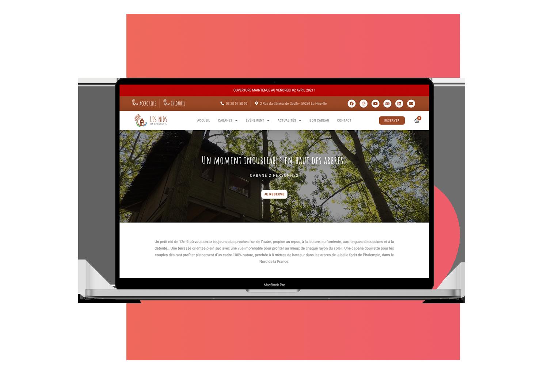 projet de site web